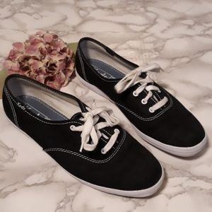 Keds black white classic lace up sneakers